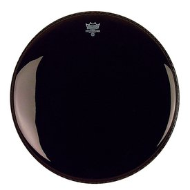 "Remo Remo Ebony Powerstroke 3 22"" Diameter Bass Drumhead with 5"" Black Dynamo"