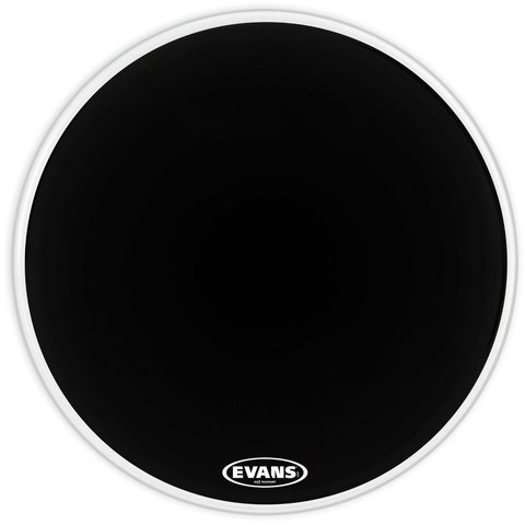 "Evans EQ3 Resonant Black 22"" No Port Bass Drumhead"