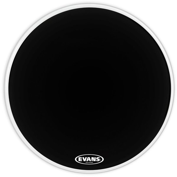 "Evans Evans EQ3 Resonant Black 22"" No Port Bass Drumhead"