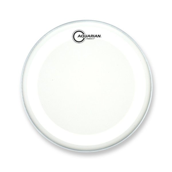 "Aquarian Aquarian Studio-X Series Texture Coated 14"" Drumhead - White"
