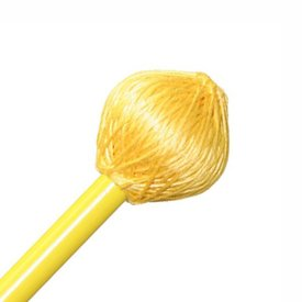 "Mike Balter Mike Balter BB4 Balter Basics 15 3/8"" Hard Yellow Cord Marimba/Vibe Mallets with Yellow Birch Handles"