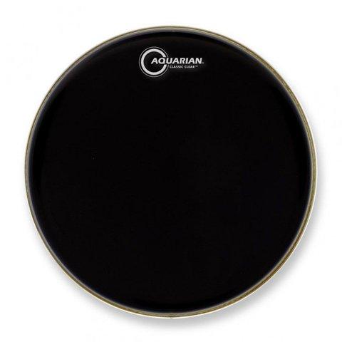 """Aquarian Classic Clear Series 14"""" Drumhead - Black"""