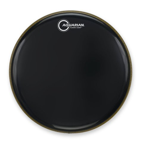 "Aquarian Classic Clear Series 18"" Bass Drumhead - Black"