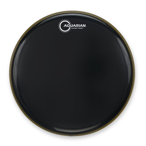 "Aquarian Aquarian Classic Clear Series 18"" Bass Drumhead - Black"