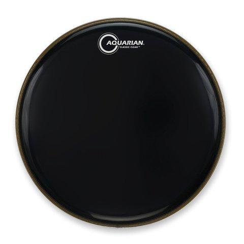 """Aquarian Classic Clear Series 16"""" Bass Drumhead - Black"""