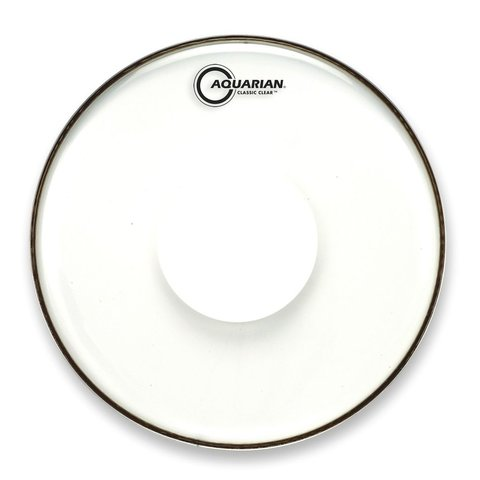 "Aquarian Classic Clear Series 14"" Drumhead with Power Dot"