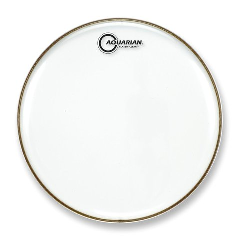 """Aquarian Classic Clear Series 15"""" Snare Bottom Drumhead"""