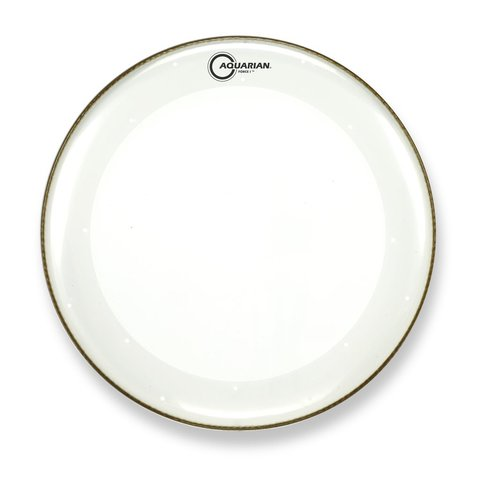 """Aquarian Force I Series 16"""" Bass Drum Batter Head and KP1 Drumhead - Clear"""