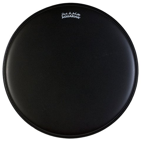 "Aquarian Texture Coated 16"" Bass Drumhead - Black"