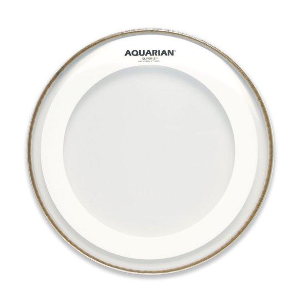 "Aquarian Aquarian Super-2 Series 13"" Drumhead with Studio-X Ring"