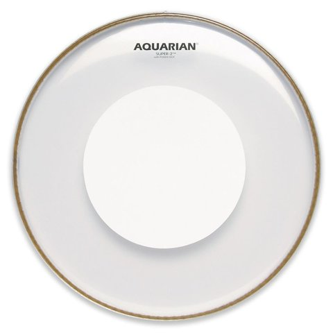 """Aquarian Super-2 Series 14"""" (2-Ply) Drumhead with Power Dot"""