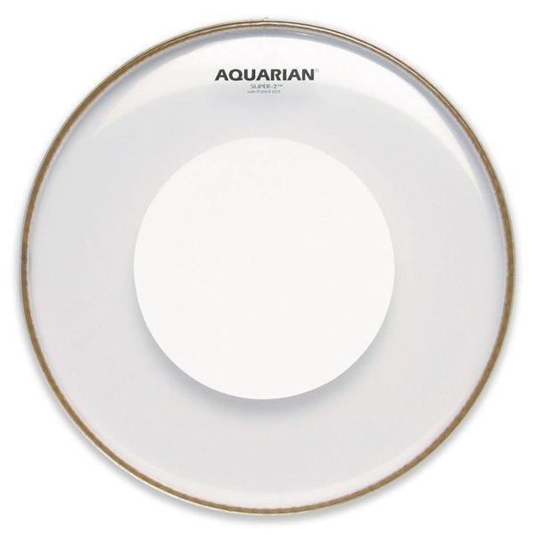 "Aquarian Aquarian Super-2 Series 14"" (2-Ply) Drumhead with Power Dot"