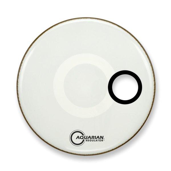 "Aquarian Aquarian Regulator Series Small Hole 20"" Drumhead with Ring - White"