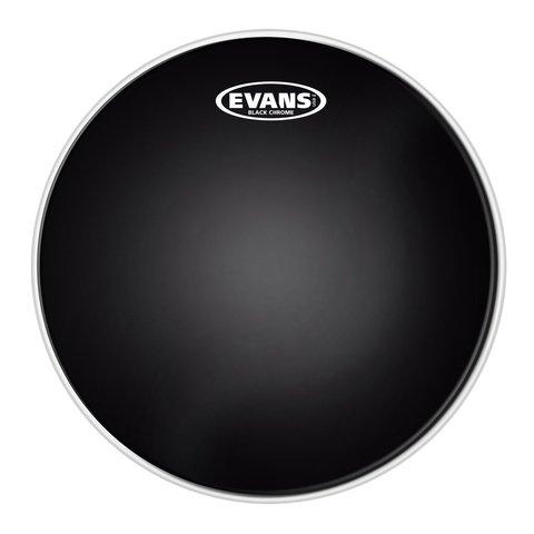 "Evans Black Chrome 18"" Batter Tom Drumhead"