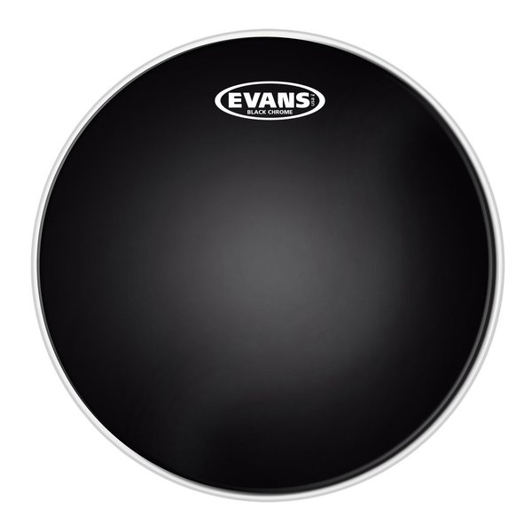 "Evans Evans Black Chrome 18"" Batter Tom Drumhead"