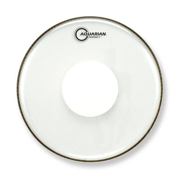 "Aquarian Aquarian Response 2 Series 14"" (2-Ply) Drumhead with Power Dot - No Glue"