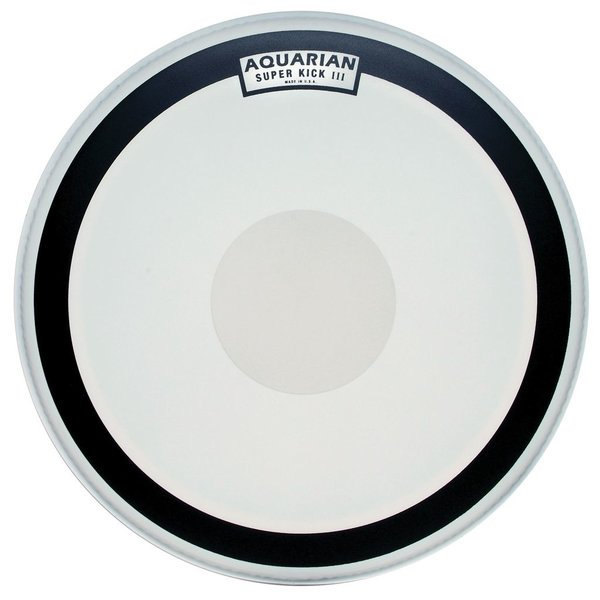 "Aquarian Aquarian Super-Kick Series Texture Coated 22"" (1-Ply) Drumhead with Power Dot"