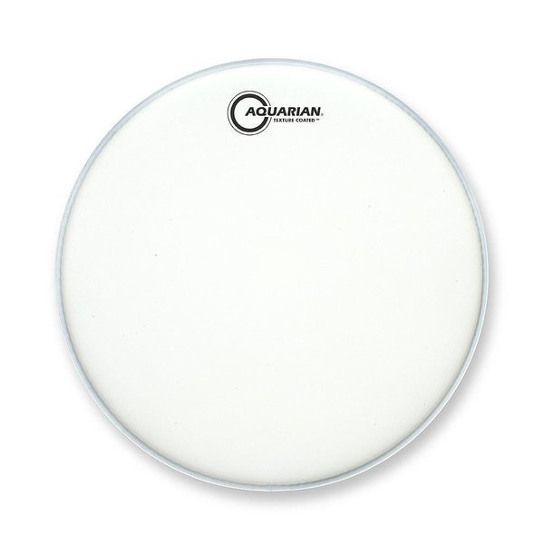 "Aquarian Aquarian Force I Series Texture Coated 10"" Drumhead Satin Finish - White"