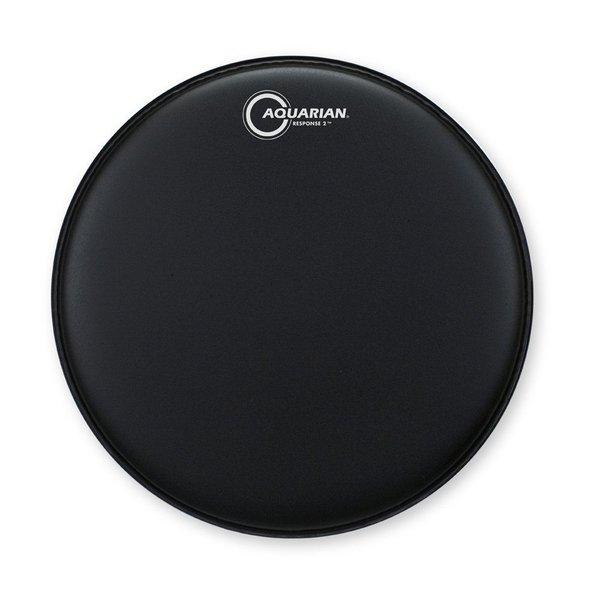 "Aquarian Aquarian Response 2 Series Texture Coated 14"" (2-Ply) Drumhead - Black"