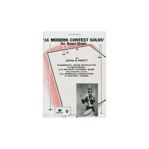 Alfred Publishing 14 Modern Contest Solos for Snare Drum by John S. Pratt; Book
