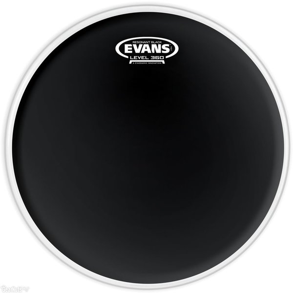 "Evans Evans Resonant Black 13"" Tom Drumhead"
