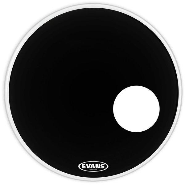 """Evans Evans EQ3 Resonant Black 24"""" Bass Drumhead"""