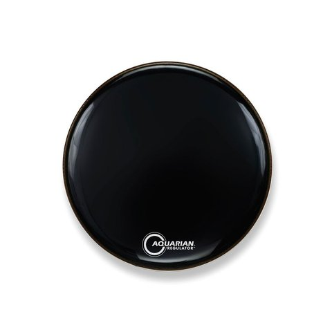 """Aquarian Front 18"""" Bass Drumhead with Ring - Black"""