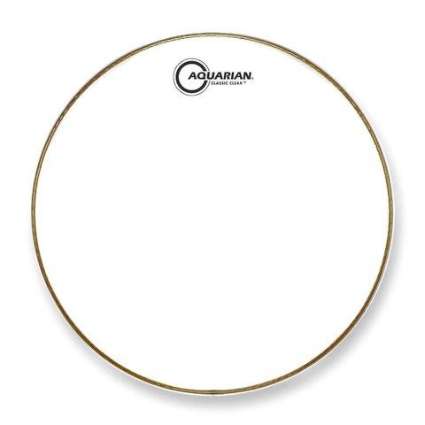 """Aquarian Classic Clear Series 22"""" Drumhead - White"""
