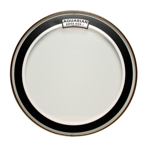 "Aquarian Aquarian Super-Kick Series Clear 22"" (1-Ply) Drumhead"