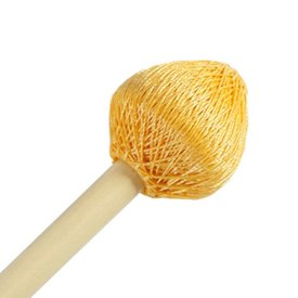"Mike Balter Mike Balter 121R Super Vibe Series 15 1/2"" Extra Hard Yellow Polyester Vibe Mallets with Rattan Handles"