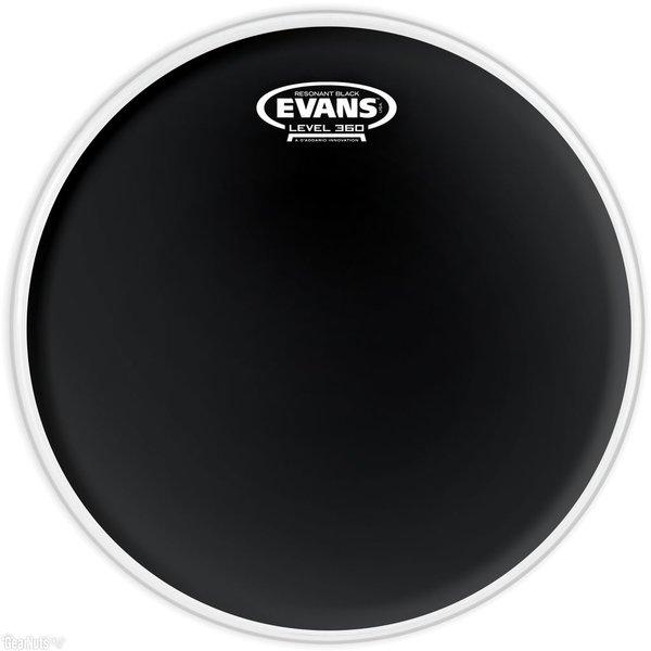"""Evans Evans Resonant Black 15"""" Tom Drumhead"""