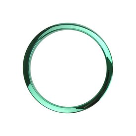 "Bass Drum O's Bass Drum O's 2"" Green Chrome Drum O's/Tom Ports (2 Pack)"