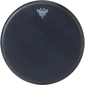"Remo Remo Black Suede Ambassador 12"" Diameter Batter Drumhead - Black Dot Bottom"
