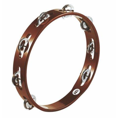 Meinl Wood Tambourine Steel Jingles 1 Row African Brown
