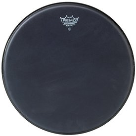 "Remo Remo Black x 12"" Diameter Batter Drumhead - Black Dot Bottom"