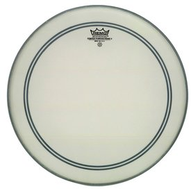 "Remo Remo Coated Powerstroke 3 16"" Diameter Bass Drumhead - 2-1/2"" White Falam Patch"