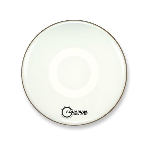 "Aquarian Regulator 22"" Bass Drumhead No Hole with Ring - White"