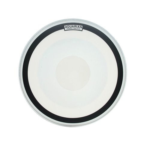 "Aquarian Impact III Series 18"" (1-Ply) Texture Coated with Power Dot and Ring Drumhead"
