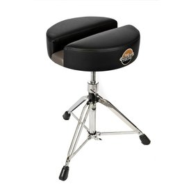 "Carmichael Throne 15"" Black Vinyl Short Spindle Drum Throne"