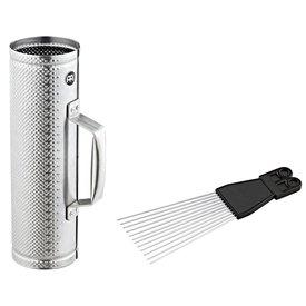 Meinl Meinl Brushed Steel Merengue Guira Small incl. MGS2 Scraper