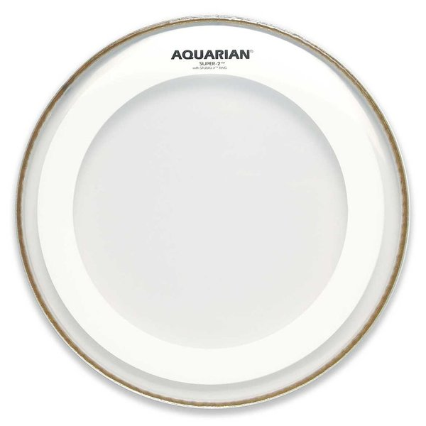 "Aquarian Aquarian Super-2 Series 12"" Drumhead with Studio-X Ring"