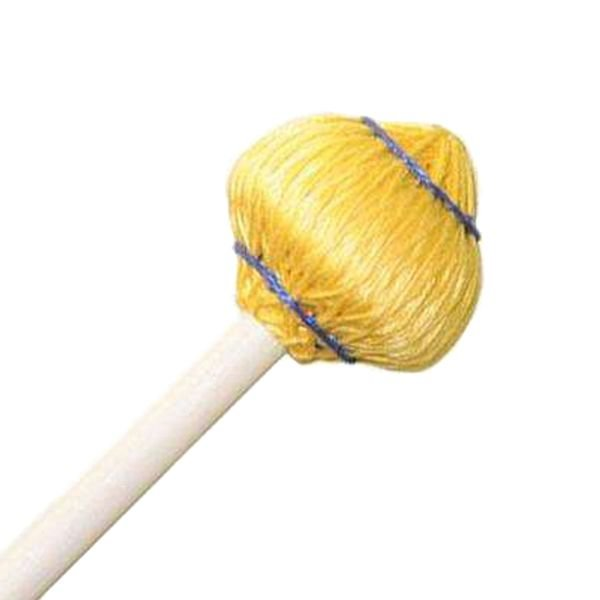 "Mike Balter Mike Balter 64R Mushroom Head Series 15 1/2"" Medium Soft Yellow Cord Marimba/Vibe Mallets with Rattan Handles"