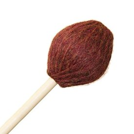 "Mike Balter Mike Balter 86B Contemporary Series 16 7/8"" Extra Soft Burgundy Yarn Marimba Mallets with Birch Handles"
