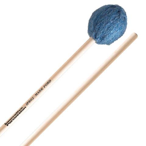 Innovative Percussion Medium Soft Legato Marimba Mallets - Deep Blue Yarn - Birch