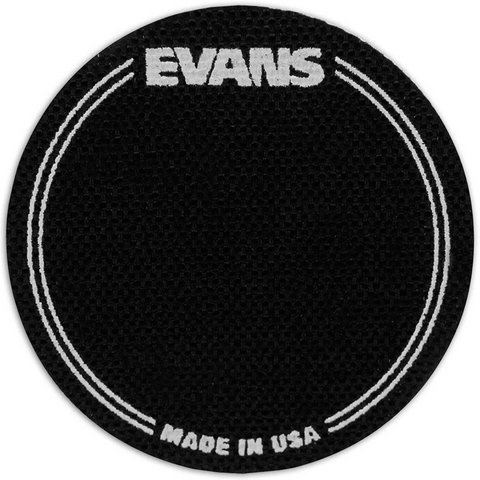 Evans Black Nylon Bass Drum Patch Single Pedal (2 Pack)