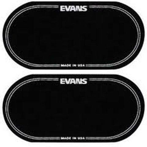 Evans Black Nylon Bass Drum Patch Double Pedal (2 Pack)