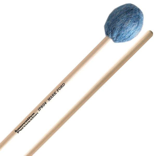Innovative Percussion Innovative Percussion Hard Legato Marimba Mallets - Deep Blue Yarn - Birch