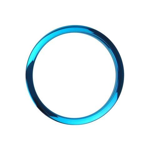 """Bass Drum O's 6"""" Blue Chrome Drum O's"""