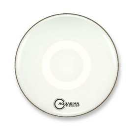 "Aquarian Aquarian Front 16"" Bass Drumhead with Ring - White"