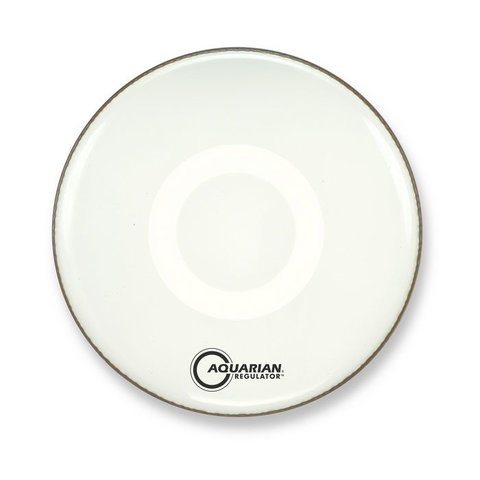 "Aquarian Front 16"" Bass Drumhead with Ring - White"